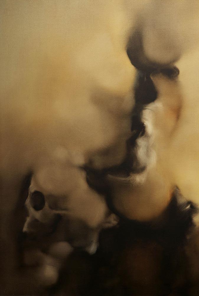 Vanité de Jean Janoir, peinture à l'huile (1974).