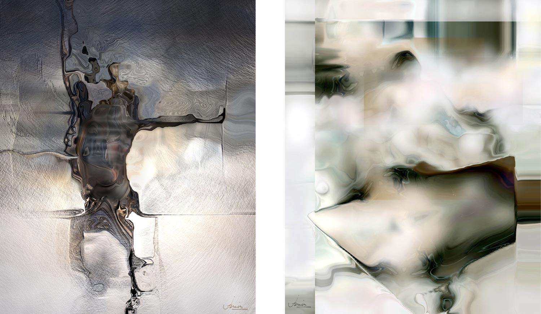 Peintures numériques de Jean Janoir (2008-2009).