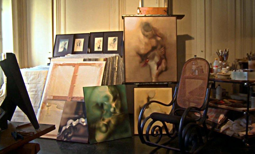 L'atelier de Jean Janoir en 2011, resté en l'état depuis 1995.