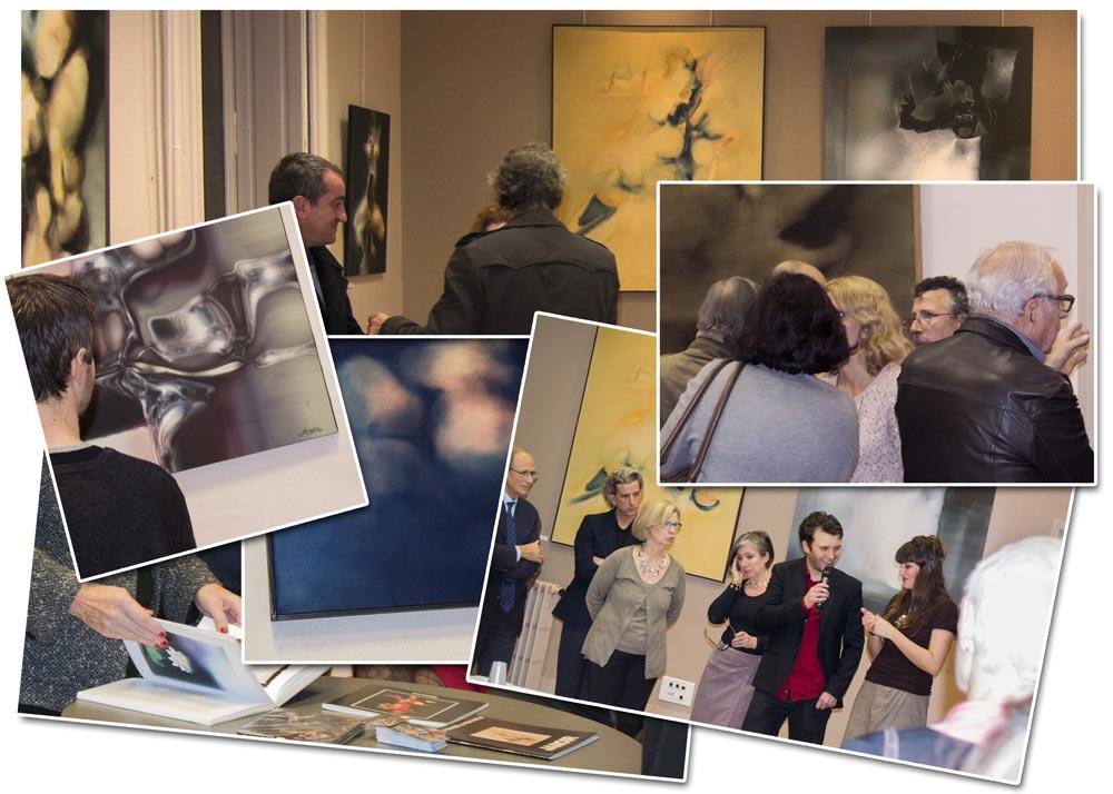 Vernissage de l'exposition Jean Janoir à la mairie du 2e arrondissement de Lyon, le 4 novembre 2013.